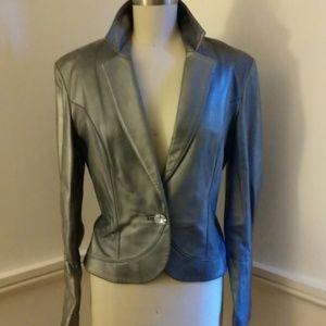 Bernardo Silver Leather Jacket